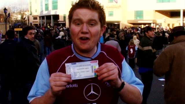 Scunthorpe fan Dave Coulson in 2005