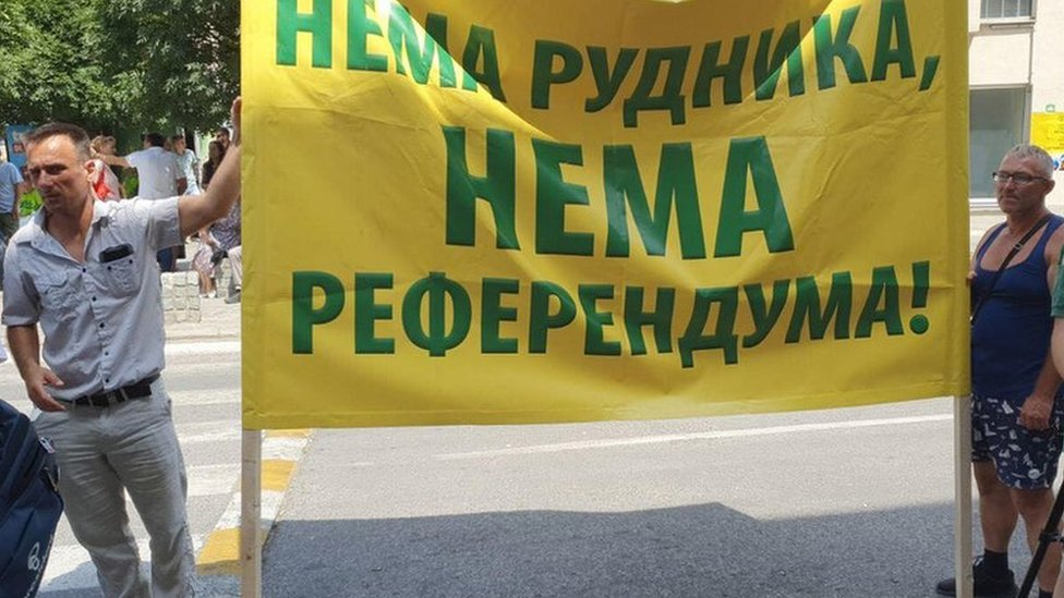 Protest 29. jula ispred opštine Loznica