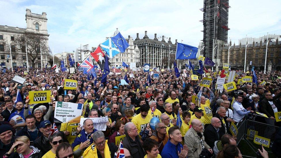 Manifestación contra el Brexit