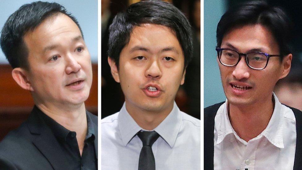 (左至右)陳志全、許智峯、朱凱廸