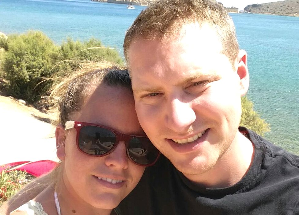 Selfie of Emily and Paul Piper by the sea