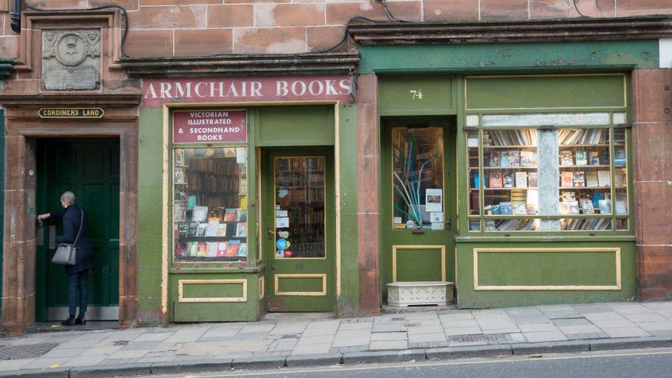 Librería en Edimburgo