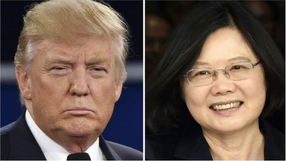 特朗普與蔡英文電話交談打破了1979年華盛頓與台北斷交、與北京建交以來的常規。
