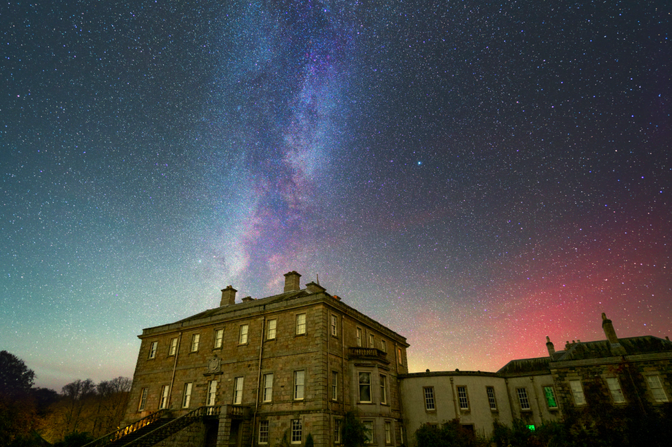 """Richard Paton from Ellon describes his picture as """"Haddo House under the Milky Way"""" at Haddo Country Park in Aberdeenshire."""