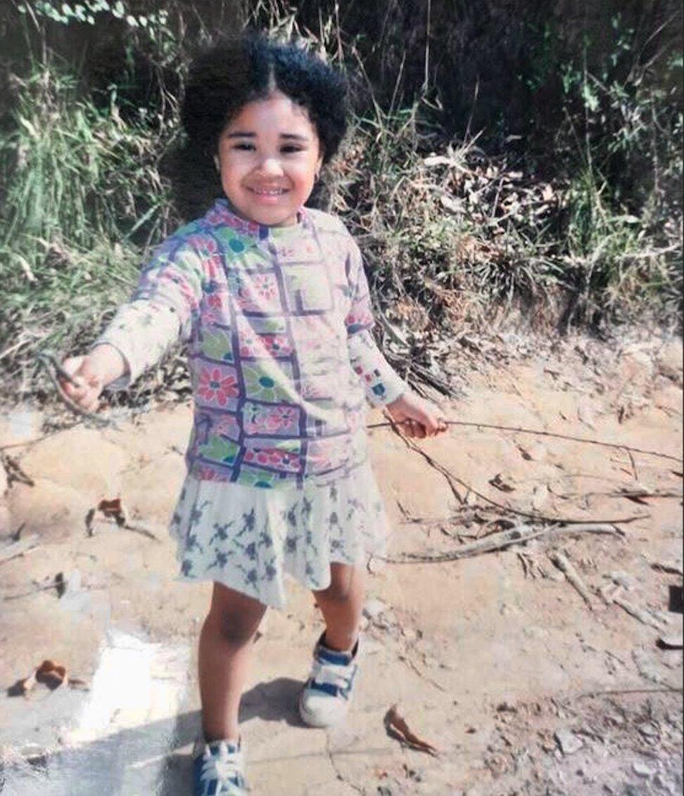Marina Melo na infancia