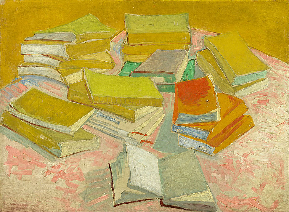 """Pilas de novelas francesas"" pintadas por Vincent Van Gogh en 1887."