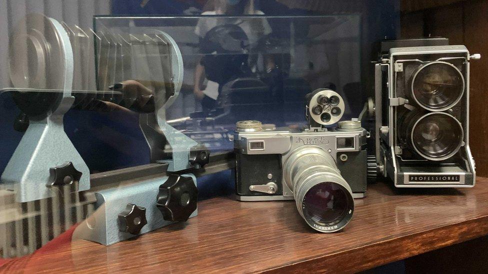Fotoaparati koje je Rajs koristio u prvim decenijama 20. veka
