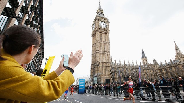 Runners at Big Ben