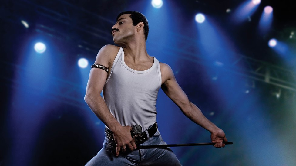 Rami Malek as Freddie Mercury in Bohemian Rhapsody (2018)