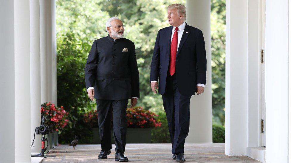 President Trump and Prime Minister Narendra Modi at the White House