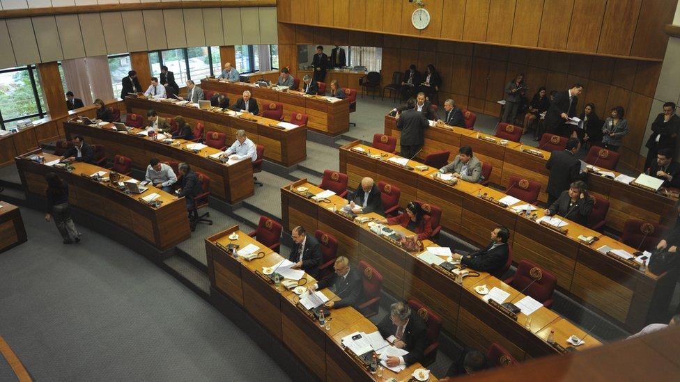Imagen del senado paraguayo.