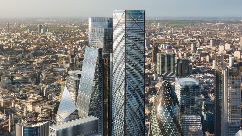 A CGI image of the London skyline