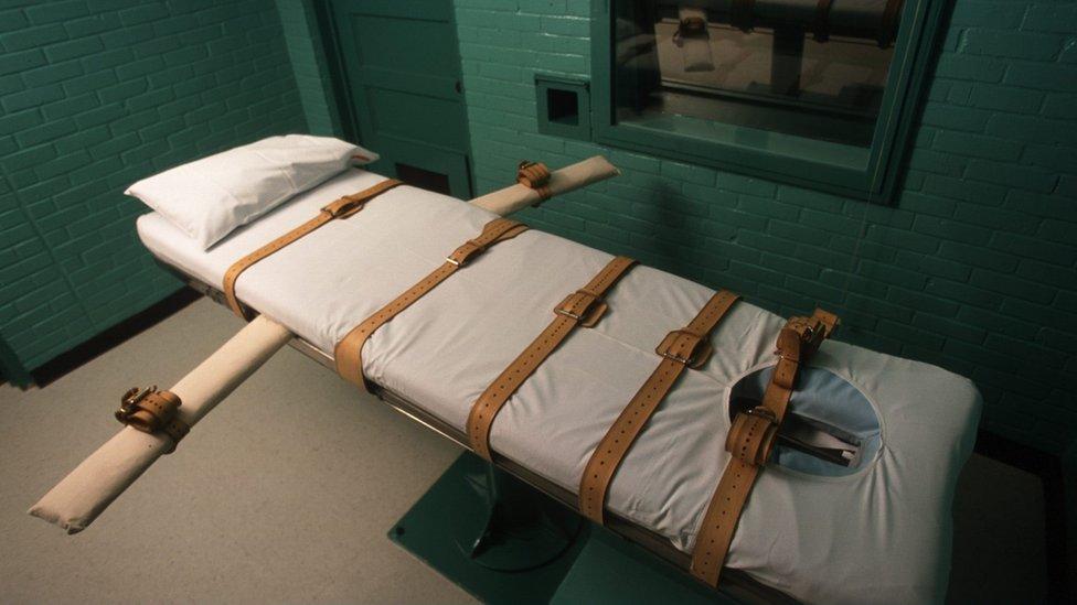 Cámara de ejecuciones en Huntsville, Texas, en 2003.