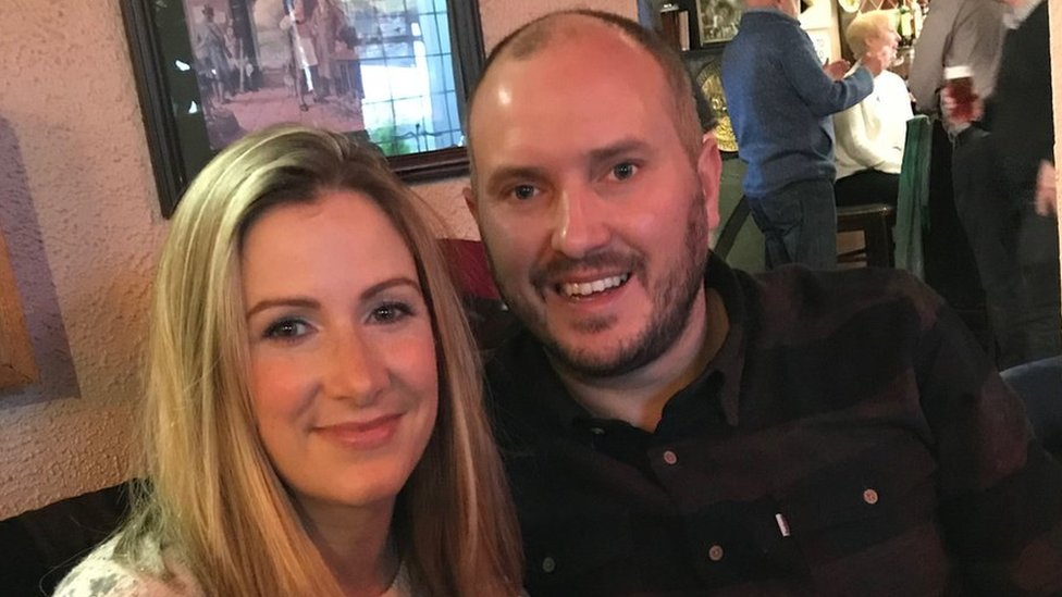 Rachael Bland with her husband Steve