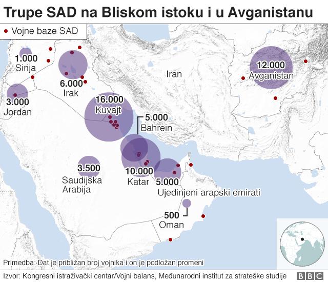 Trupe SAD na Bliskom istoku i Avganistanu
