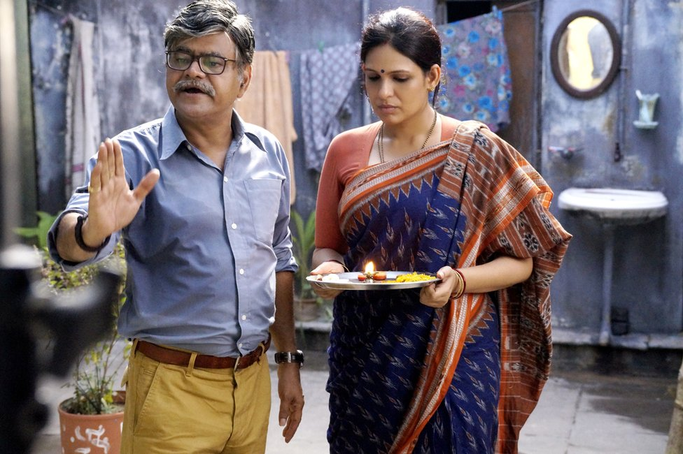 Sanjay Mishra and Ekavali Khanna in a scene in the film