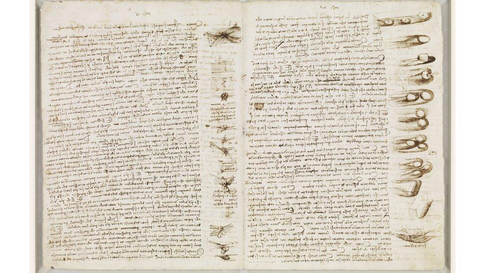 Estudios sobre el uso de obstáculos. Codex Leicester, 13B (ff. 13v-24r)