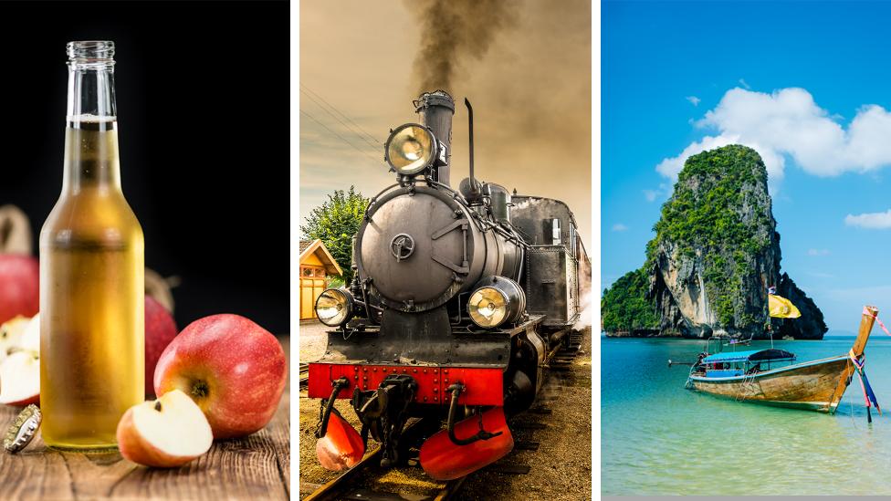 Cider, steam train and Thailand