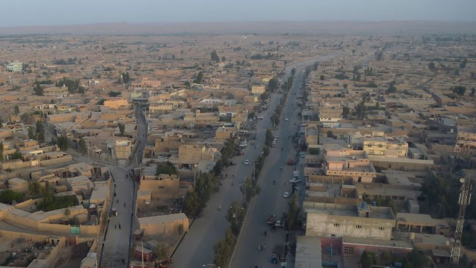 A general view of Lashkar Gah, the capital city of Helmand province.