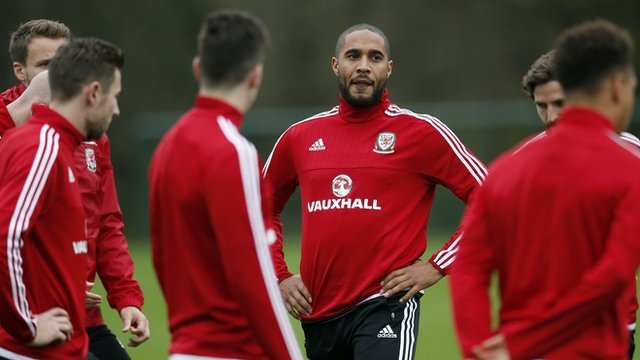 Wales players training