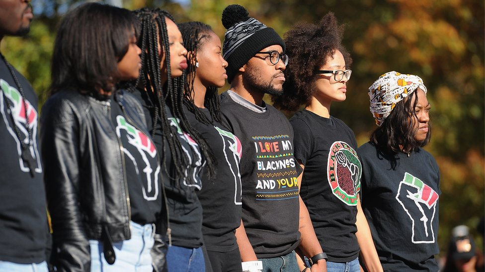 Student protesters at the University of Missouri