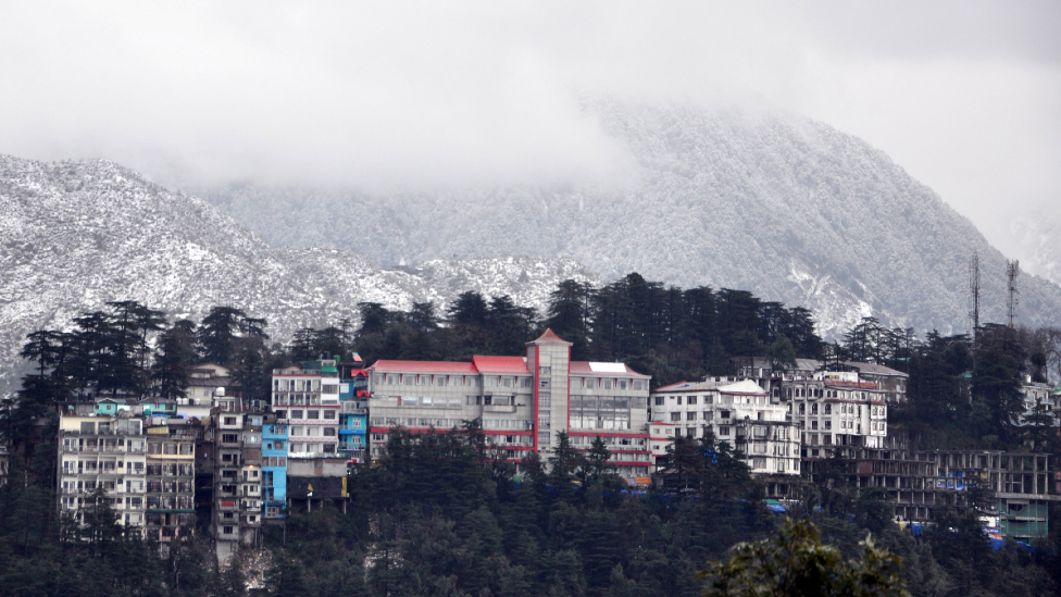 McLeod Ganj in snow