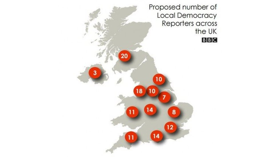 Map of reporters