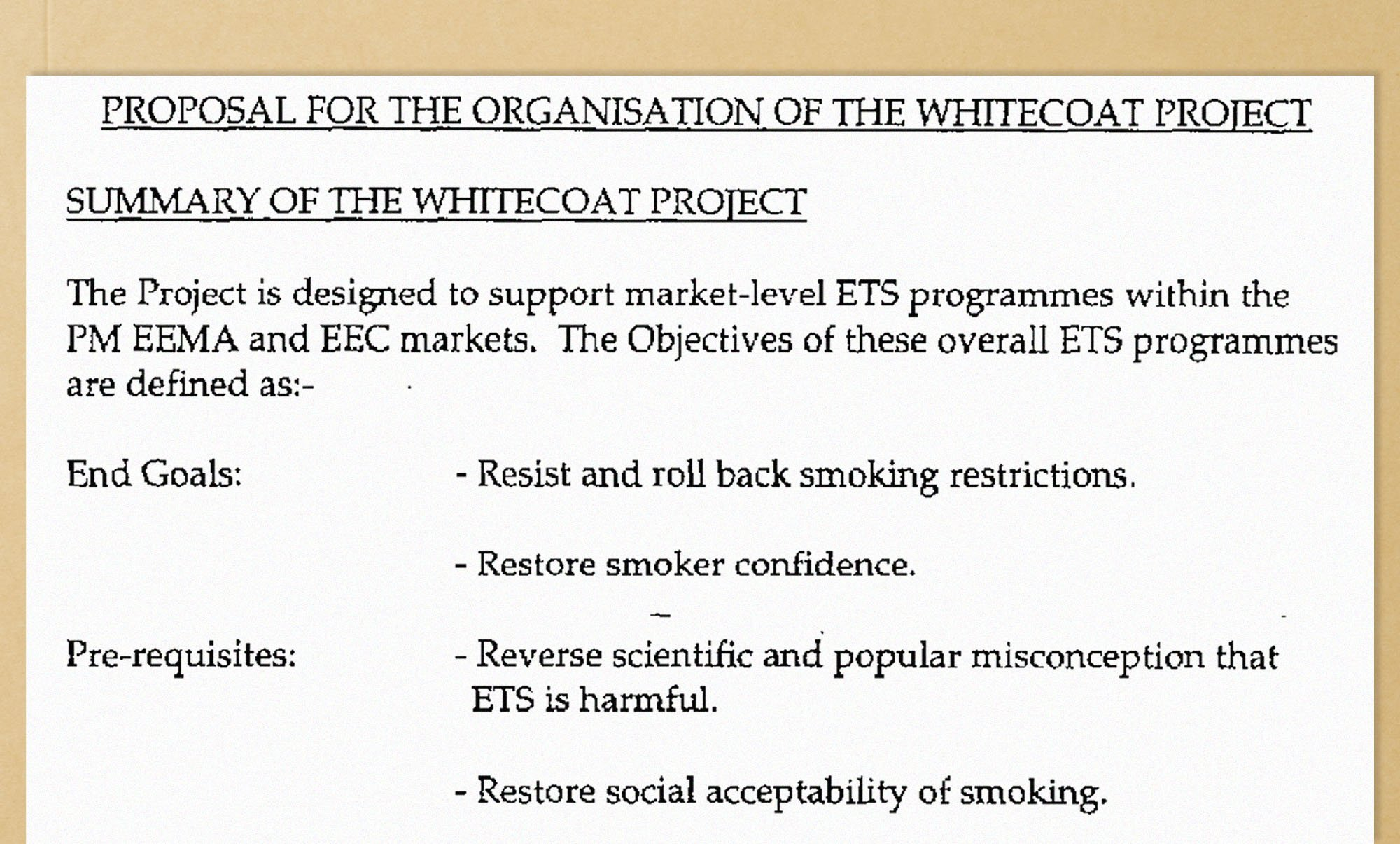 Operation Whitecoat