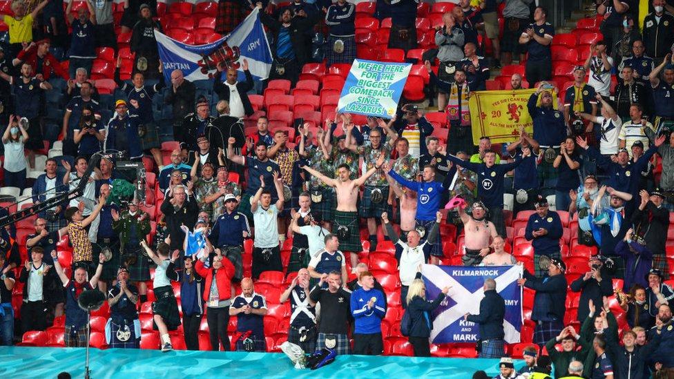 scotland fans at wembley