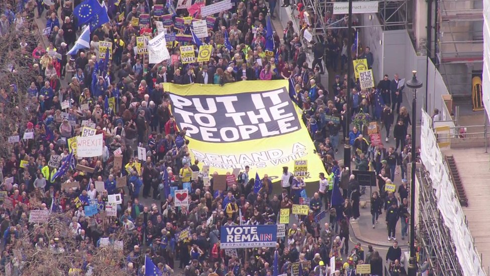 Aerial view of the march