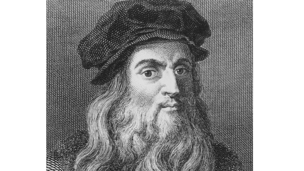 Grabado de Leonardo da Vinci