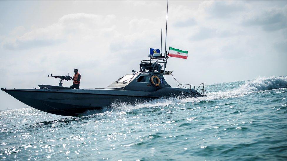 أغسطس/آب 2019 - أحد القوارب التابعة للحرس الثوري الإيراني