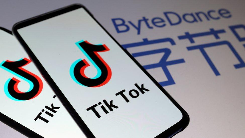 Tik Tok and ByteDance logos