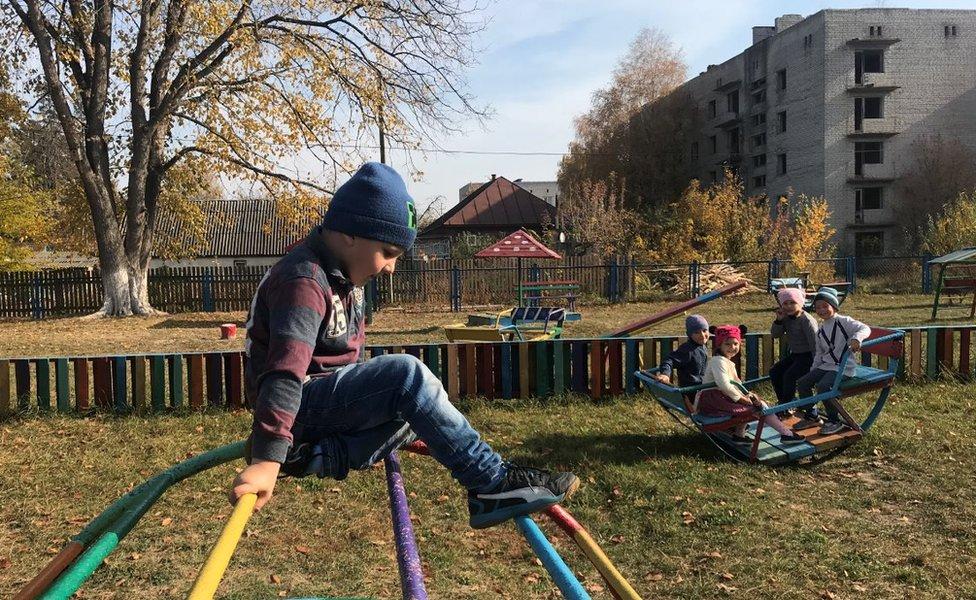 Niños en la guardería de Narodichi, en la zona de exclusión de Chernobyl