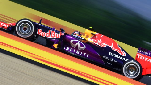 Danil Kvyat drives in second practice for the Hungarian Grand Prix