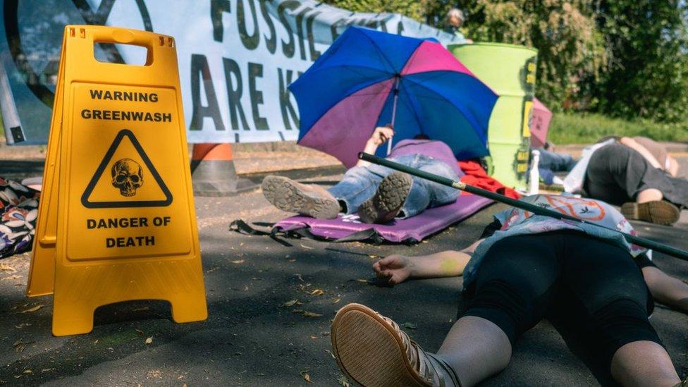 مظاهرة لنشطاء في مجال البيئة