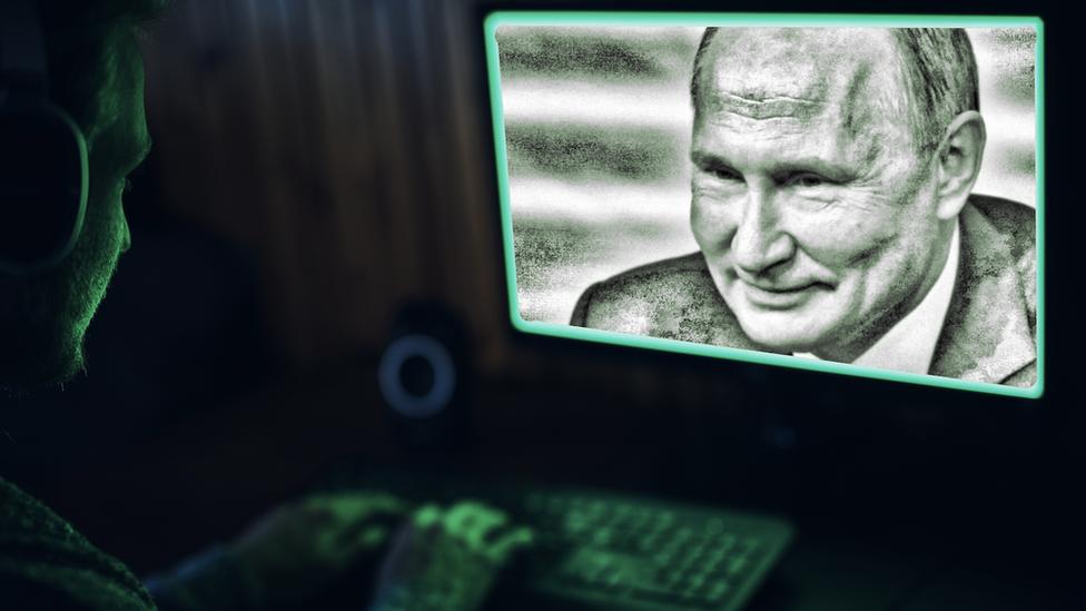 普京圖片和黑客