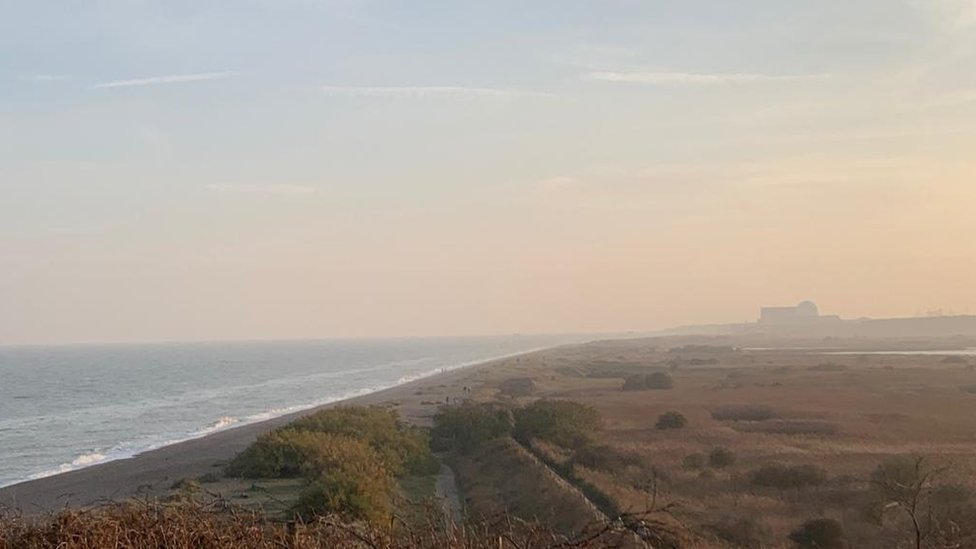 A distant shot of Sizewell B