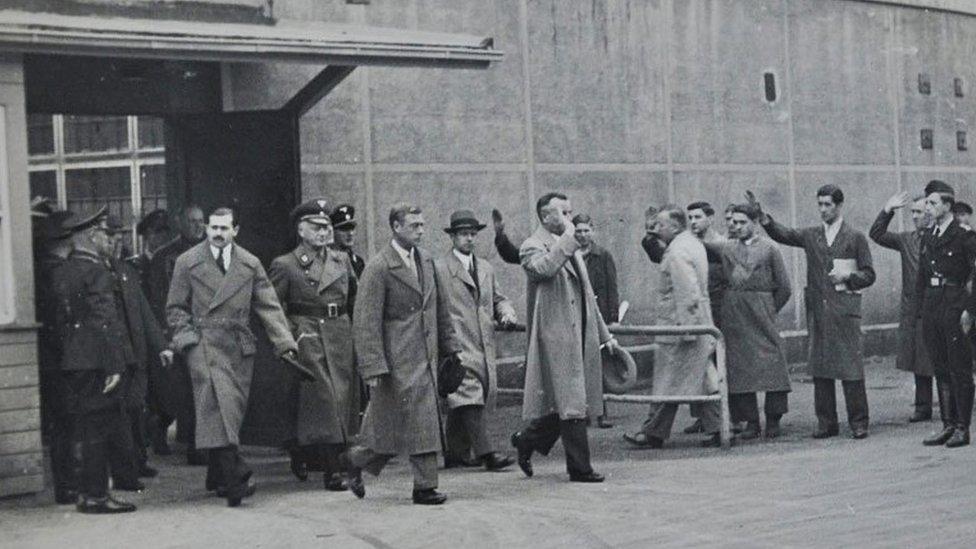 Duke of Windsor visiting Nazi Germany in 1937
