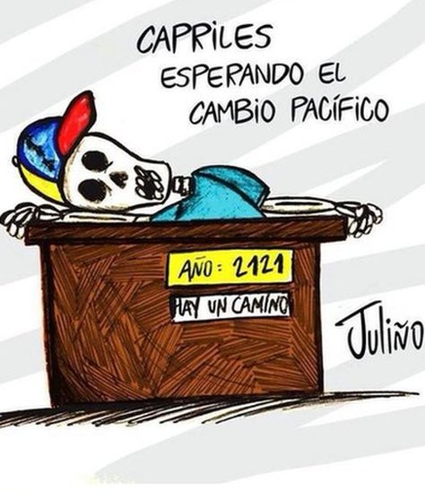 """(Henrique) Capriles waiting for a peaceful change"" referring to opposition leader Henrique Capriles."