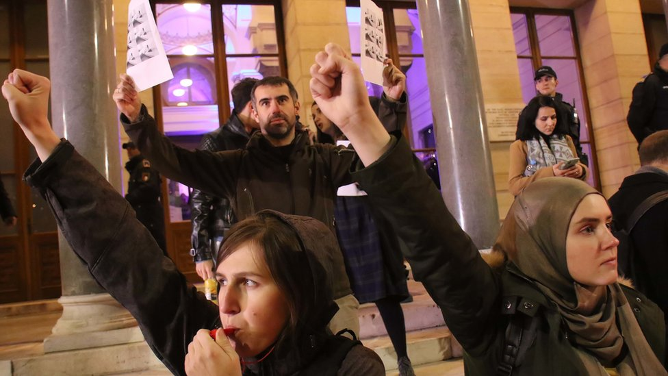 protest održan je u sredu uveče ispred Vlade BiH