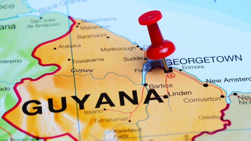 Mapa de Guyana