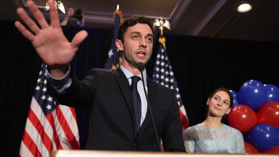 Jon Ossoff addresses supporters. 21 June 2017