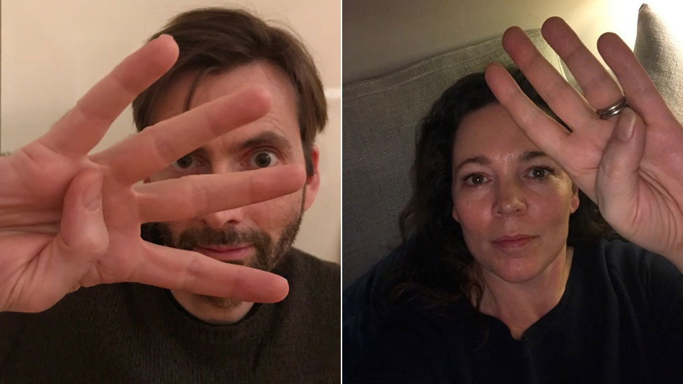 Tennant and Colman support selfie mental health campaign