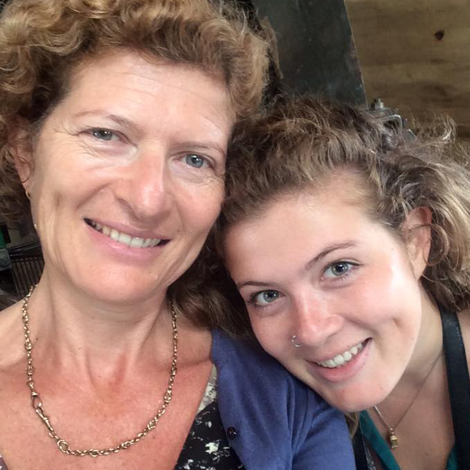 Evie Prichard (r) and her mum Mary Ann Sieghart