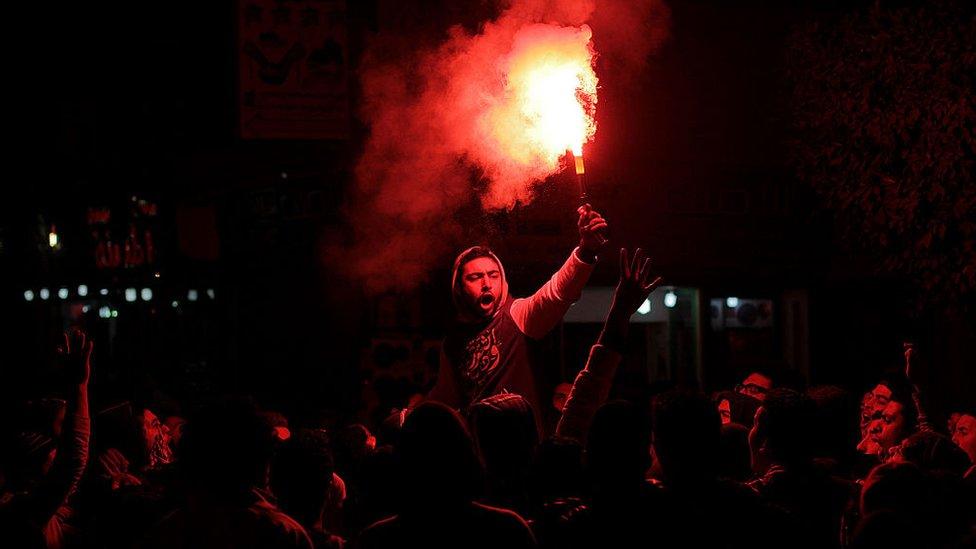 صورة من الأرشيف من مظاهرات محافظة الجيزة عام 2015