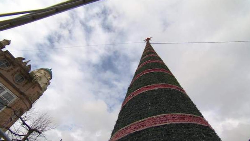 'Britain's worst Christmas tree' replaced