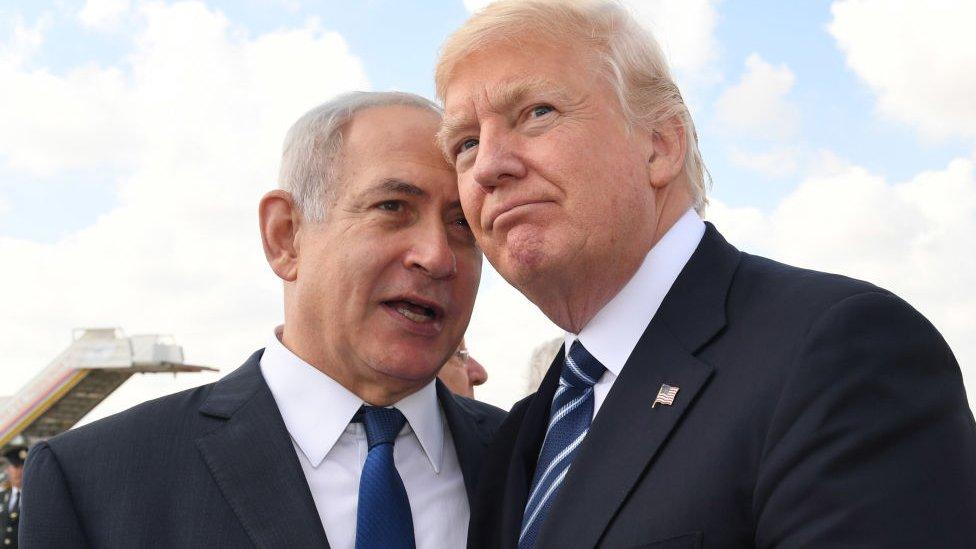 Benjamin Netanyahu dan Donald Trump
