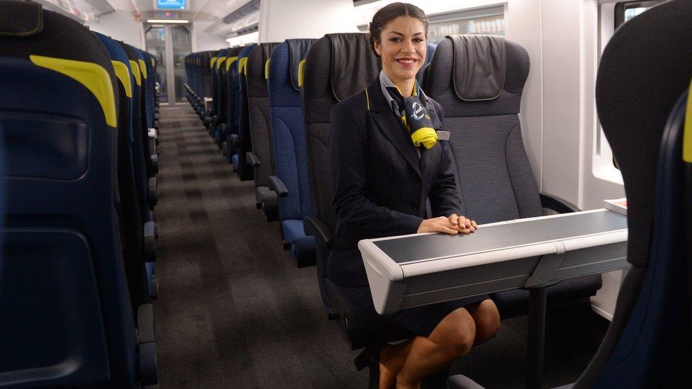 2014年,e320列車投入運行。一列車最多可運載900名乘客