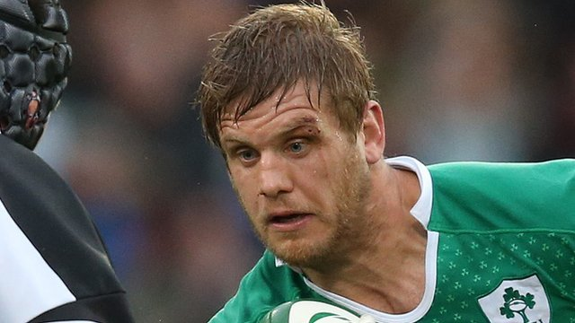 Chris Henry in action for Ireland